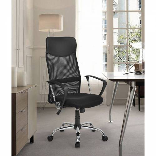 Merax Drehstuhl Schreibtischstuhl Drehstuhl Computer Stuhl Ergonomischer Design mit Kopfstütze, belastbar bis 100kg