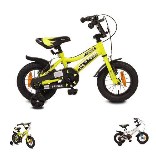 Byox Kinderfahrrad »Kinderfahrrad 12 Zoll Prince«, 1 Gang 1 Gang, keine, sportliches Design, Stützräder, Kettenschutz, grün