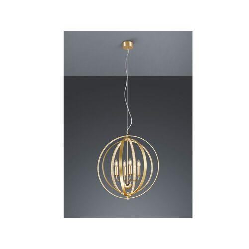 TRIO LED Kronleuchter, Lüster Kugel-Lampe große Ring-Leuchte gold für Wohnzimmer über Couchtisch, Schlafzimmer, Esszimmer-Lampe Esstisch rund, Gold