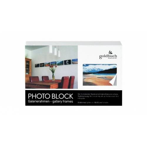 Goldbuch Bilderrahmen »90 0121 Blockrahmen 10x15 weiss«