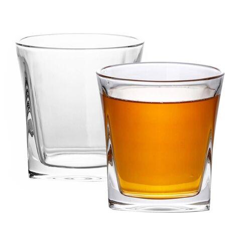 Intirilife Whiskyglas »Whisky Glas 'VINTAGE' Kristallglas Bleifrei«, im Sculpture Design spülmaschinengeeignet perfekt für Scotch, Bourbon, Whisky uvm.
