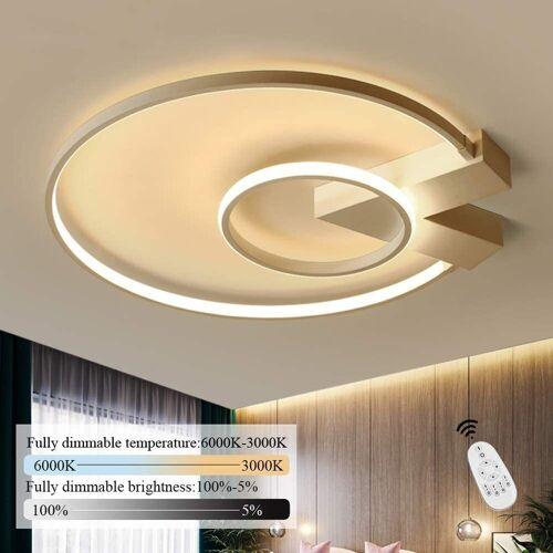 ZMH Deckenleuchte »LED Deckenlampe 50cm 40W dimmbar mit Fernbedienung Eisen Kronleuchte«
