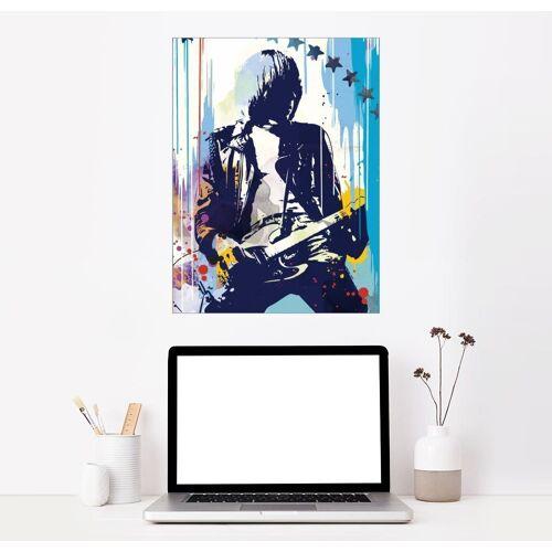 Posterlounge Wandbild, Leinwandbild Johnny Ramone, The Ramones II