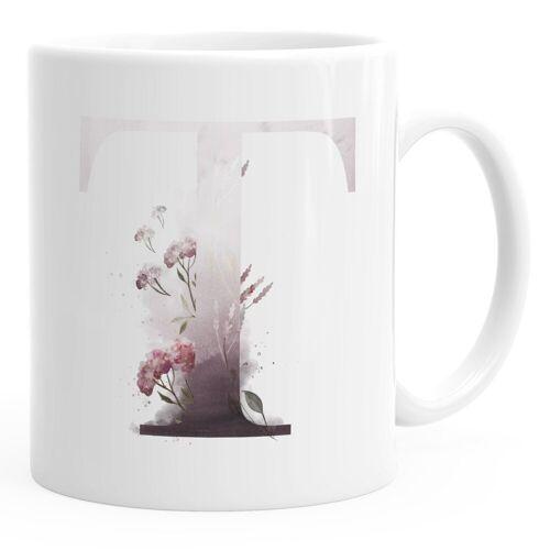 """Autiga Tasse »Buchstaben-Tasse """"T"""" Tasse mit Buchstabe Alphabet Monogramm Watercolor gezeichnet Kaffeetasse ®«"""
