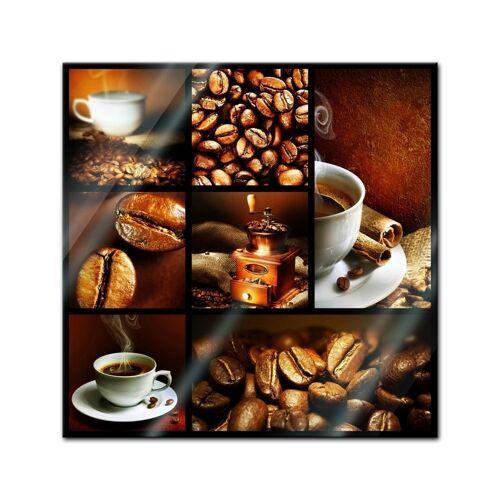 Bilderdepot24 Glasbild, Glasbild - Kaffee Collage II
