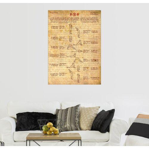 Posterlounge Wandbild, Sonnengruß – Yoga