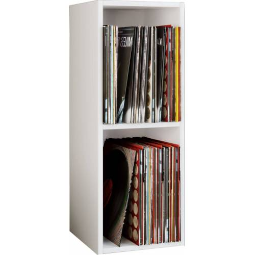 "VCM CD-Regal »Schallplatten Regal ""Platto 2fach""«, Weiß"