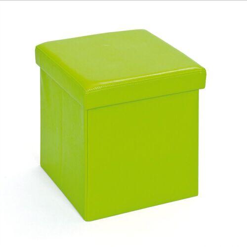 ebuy24 Aufbewahrungsbox »Sanne Aufbewahrungsbox Hocker, faltbar mit Deckel,«, grün
