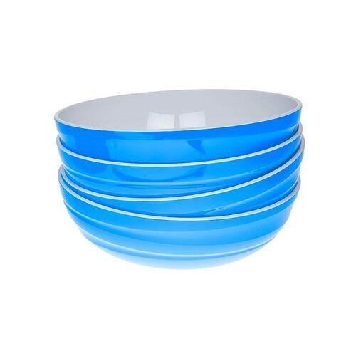 Genius Schüssel »- Design Servierschüssel Salatschüssel Schüssel Set 4-tlg blau 26100«