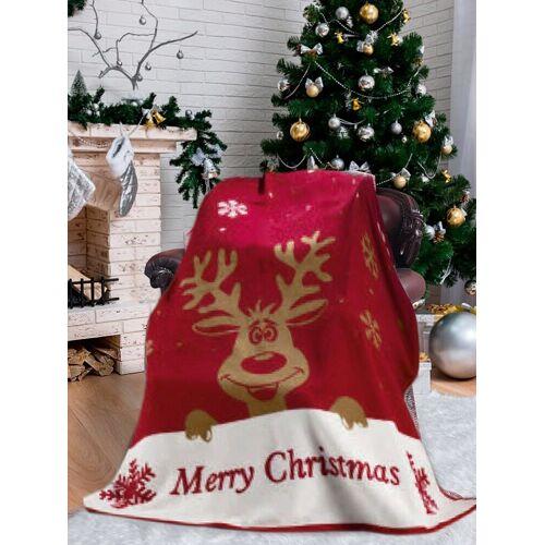 SEI Design Wohndecke »Weihnachten Merry Christmas«, , Plaid Kuscheldecke