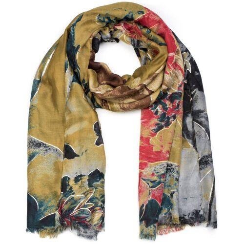 styleBREAKER Schal »Schal mit abstraktem Blumen Muster« Schal mit abstraktem Blumen Muster