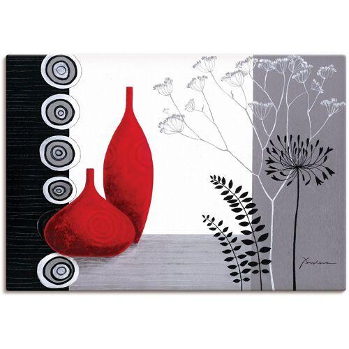 Artland Wandbild »Rote Vasen«, Vasen & Töpfe (1 Stück)
