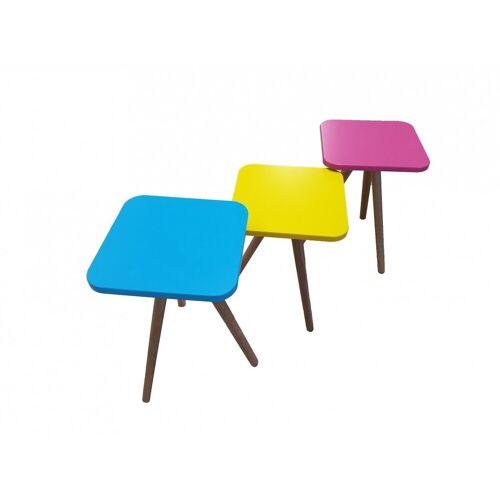 Möbel-Lux Beistelltisch »Candy« (3-St), Beistelltisch Couchtisch 3er Set Bunt aus MDF