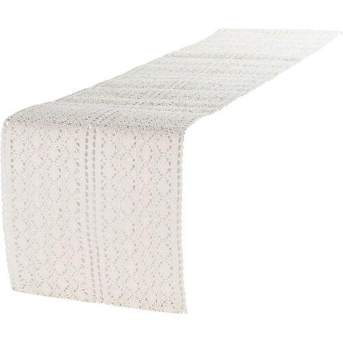 """Linen & More Tischläufer »Tischläufer """"Mirthe"""" L140 x B30 cm«, beige"""