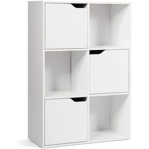 COSTWAY Bücherregal »Aktenregal Aufbewahrungsregal«, freistehend, Weiß
