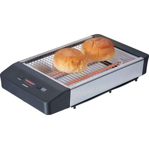 MELISSA Toaster 16140136 Flach-Toaster Brötchen-Röster, schwarz, 600 W