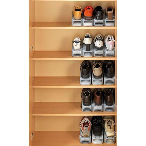 WENKO Aufhängesystem »4er-Set Schuhhalter«, grau