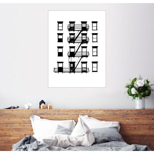 Posterlounge Wandbild, Premium-Poster Fenster und Balkone