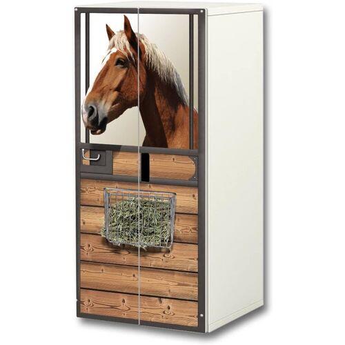 STIKKIPIX Möbelfolie »SC39«, Pferdewelt Aufkleber-Set, passend für den Kinderzimmer Schrank STUVA von IKEA (Korpus: 60 x 128 cm), Möbel Nicht Inklusive