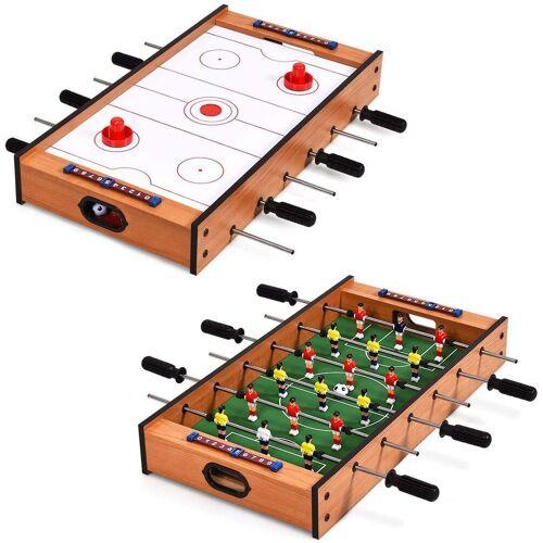 COSTWAY Mini-Tischkicker »Multifunktionsspieltisch«, 2 in 1, aus Holz