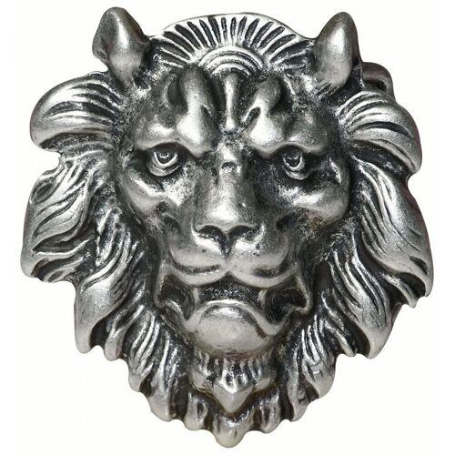 FRONHOFER Gürtelschnalle »17712« Gürtelschnalle Löwenkopf, altsilber, Lion Buckle, Löwen Schnalle