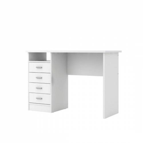 ebuy24 Schreibtisch »Fula Schreibtisch 4 Schubladen und 1 Ablage, weiss«