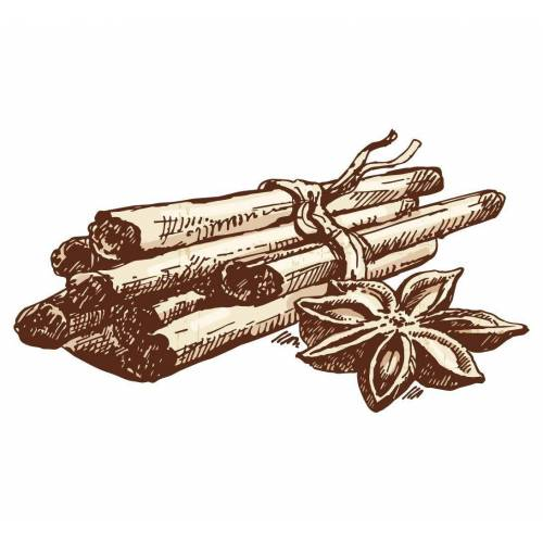 dekodino Wandtattoo »Zimtstangen Zeichnung als Gewürze« (1 Stück)