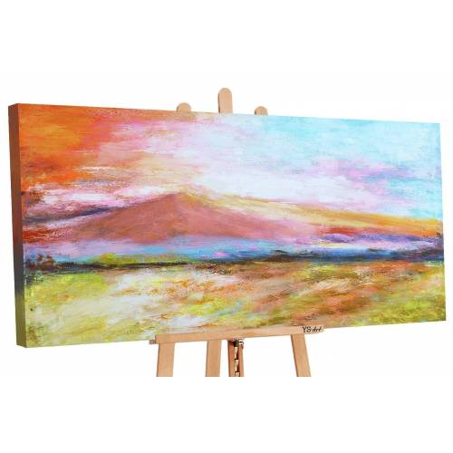 ART YS-Art Gemälde »Goldener Strand 093«