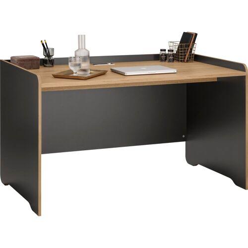 """Places of Style Schreibtisch »Ergil«, Schreibtisch """"Ergil"""", Breite 141 cm, schwarzer graphit-eiche sonoma"""