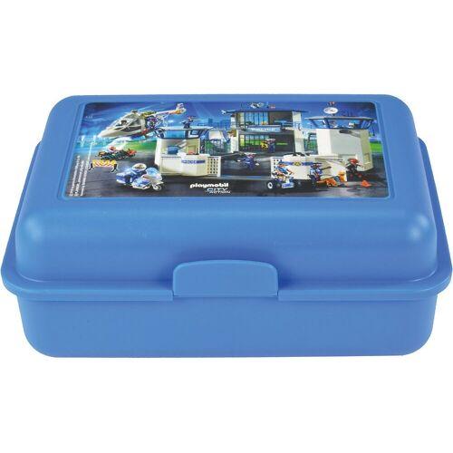 United Labels® Brotschale »Brotdose Playmobil Feuerwehr«, blau