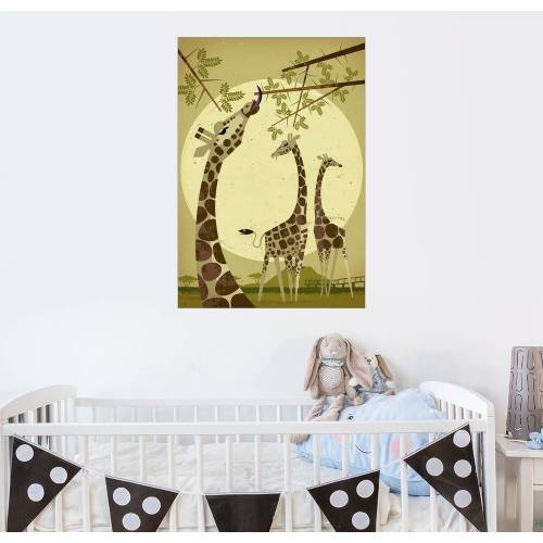 Posterlounge Wandbild, Giraffen