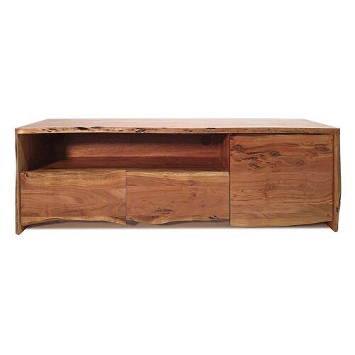 MÖBEL IDEAL Lowboard »Edge«, aus Akazie Massivholz - 150 cm Breit