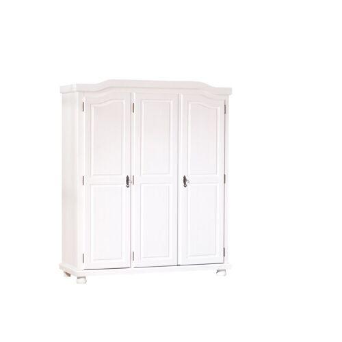 ebuy24 Kleiderschrank »Basil Kleiderschrank 3 Türen weiss.«