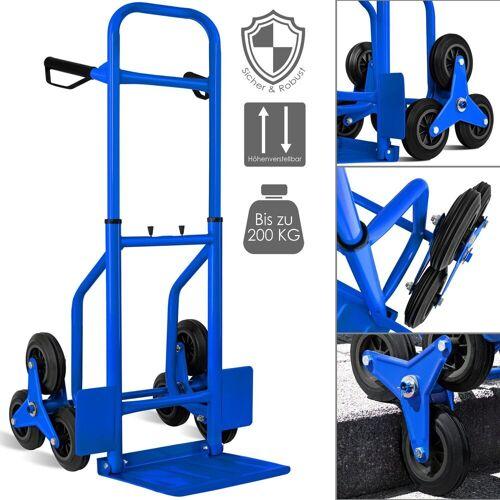 MASKO Sackkarre, Treppenkarre Sackkarre 200kg Transportkarre Treppensteiger Stapelkarre, blau