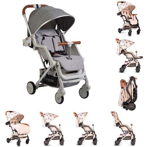 Cangaroo Kinder-Buggy »Kinderwagen, Buggy Mini«, EVA-Reifen Getränkehalter, Fußsack, klappbar, grau