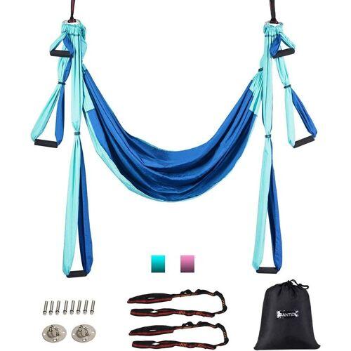 COSTWAY Hängematte »Yoga Schaukel Air Fliegen Hängematte Set«, mit Montagezubehör, blau