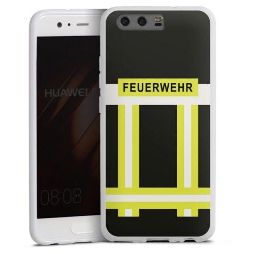 DeinDesign Handyhülle »Feuerwehr« Huawei P10, Hülle Feuerwehr Feuerwehrmann Beruf, weiß