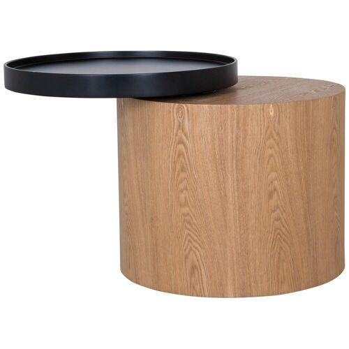 mokebo Couchtisch »Der Stämmige«, auch als Beistelltisch im skandinavischen Design, Eichenholz Dunkel 01