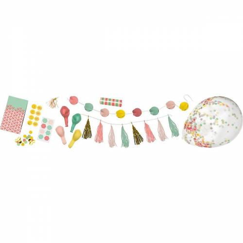 Folia Kindergeschirr-Set »Party-Box ADULTS, 36-tlg.«, pastell