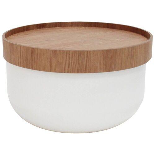 mokebo Couchtisch »Die Behüterin«, auch als Beistelltisch im skandinavischen Design, Weiß & Eschenholz 01