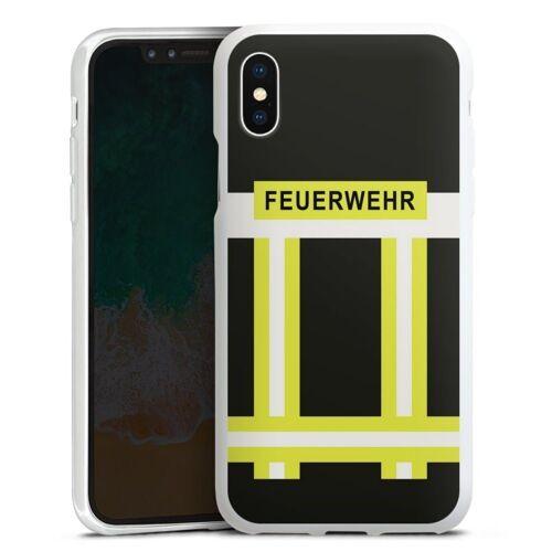 DeinDesign Handyhülle »Feuerwehr« Apple iPhone Xs, Hülle Feuerwehr Feuerwehrmann Beruf, weiß