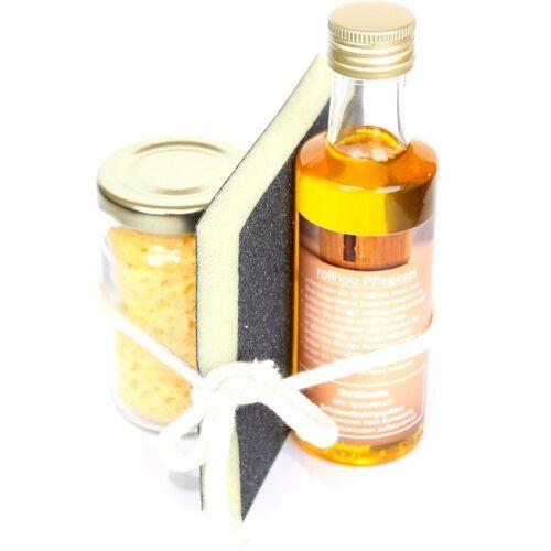 rollholz »Pflegeset (3-teilig)« Holzpflegeöl (3 St)