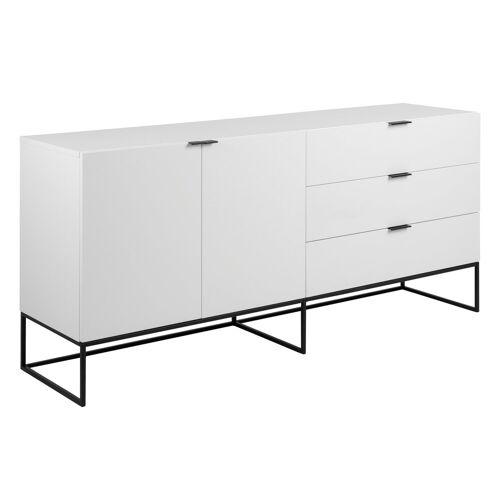ebuy24 Sideboard »Koch Sideboard mit 2 Türen und 3 Schubladen weiß.«