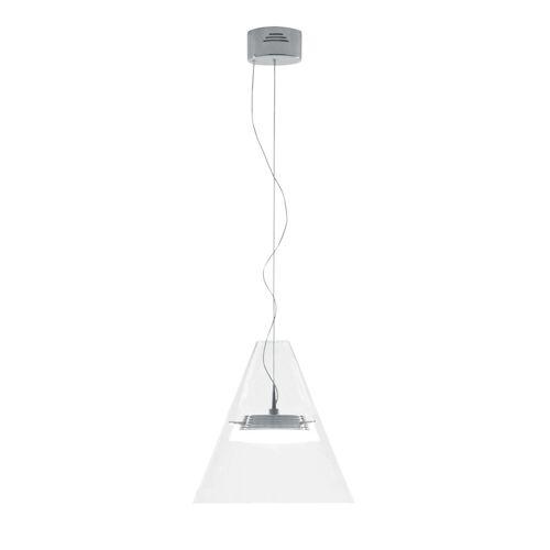 dynamic24 LED Pendelleuchte, LED Glas Pendelleuchte Hänge Lampe Designleuchte Deckenlampe Leuchte Beleuchtung