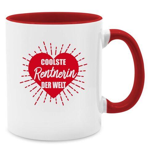 Shirtracer Tasse »Coolste Rentnerin der Welt - Tasse zweifarbig - Tassen«, Tasse Berufe, 02 Rot