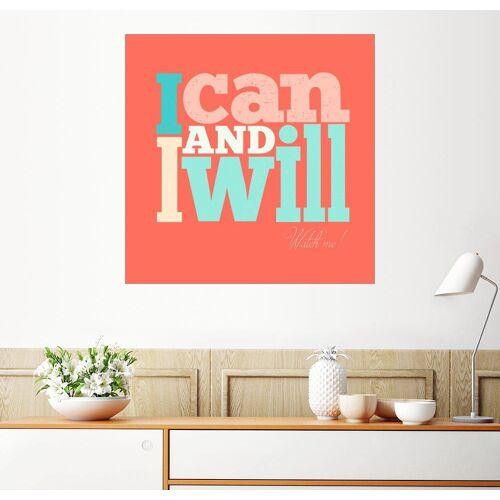 Posterlounge Wandbild, I can and I will - Ich kann und Ich werde