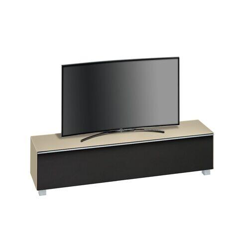Maja Möbel Lowboard »Soundboard 7738«, 180 cm, Glas sand matt