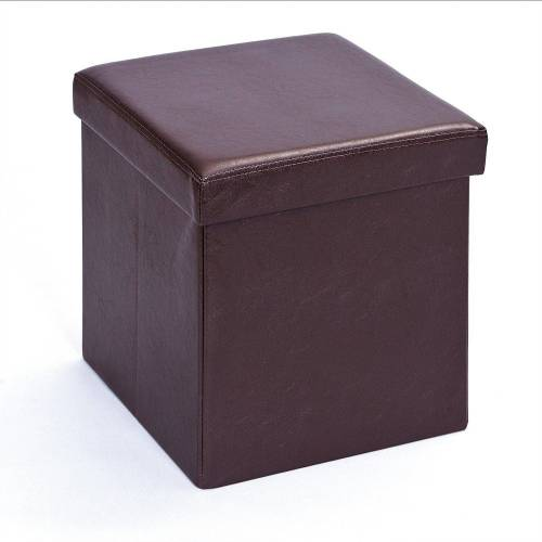 ebuy24 Aufbewahrungsbox »Sanne Aufbewahrungsbox Hocker, faltbar mit Deckel,«, Braun