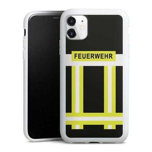DeinDesign Handyhülle »Feuerwehr« Apple iPhone 11, Hülle Feuerwehr Feuerwehrmann Beruf, weiß