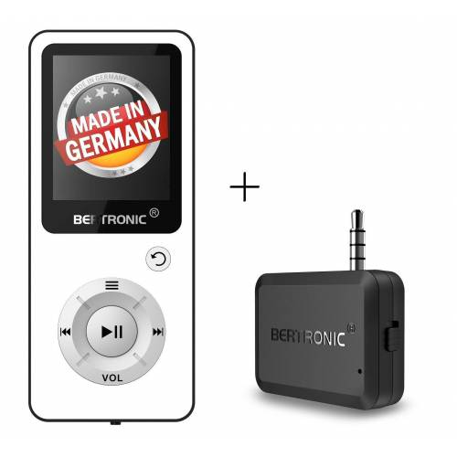 BERTRONIC »Royal BC04« MP3-Player (16 GB Speicherkarte, Made in Germany, Audio-Player mit Bluetooth Adapter), Weiß